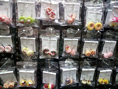 2016 bulk lots mixed 60pairs assorted soft polymer cake vogue lady's earrings