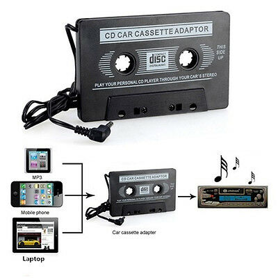 In Car Audio Tape Cassette Adapter MP3 Cd iPhone iPod Radio Nano 3.5mm Jack Aux