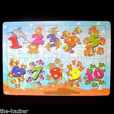 jigsaw puzzle 48 piece numbers educational learn while playing fun learning game