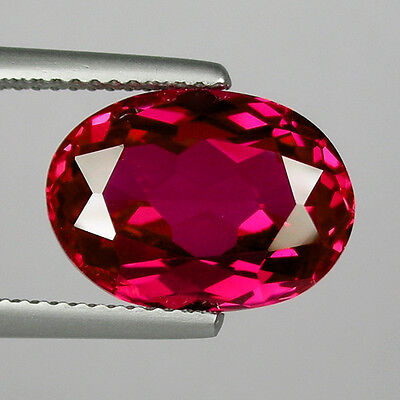 """IF 6 cts Huge Oval (12x10 mm) Lab Corundum Pigeon Blood Red Ruby """"HOT PRICE"""" K68"""
