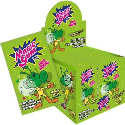 Pop Rocks Magic Gum Saurer Apfel 50er Display knisternder Kaugummi (1er Pack)