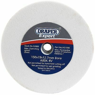 Draper Grinding/Grinder Work Tool Sharpening Wheel - 80G - 150 x 19mm - 52068