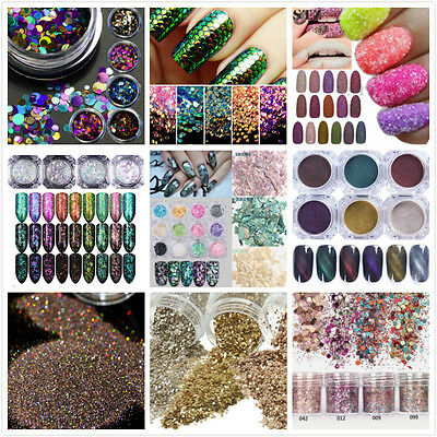 DIY Nail Art Glitter Powder Dust For UV GEL Acrylic Powder Decoration Tips Pink