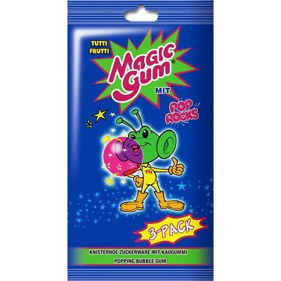 Pop Rocks Magic Gum Tutti Frutti 3- Pack 21g knisternder Kaugummi (1er Pack)