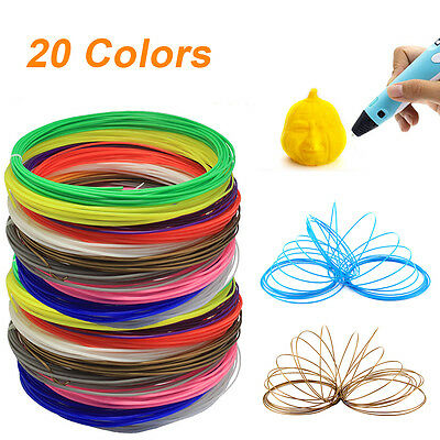 20PCS 1.75mm ABS Printing Filament Modeling For 3D Printer Pen Drawing
