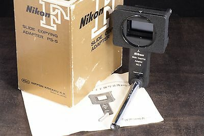 Minty! Early Boxed Nikon F Ps-5 Slide Copying Adapter With Japanese Lang. Manual