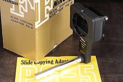 Minty! Later Boxed Nikon F Ps-5 Slide Copying Adapter With English Manual Super