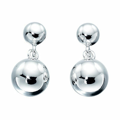 925 Sterling Silver Double Ball Drop Earrings