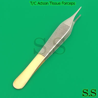 "T/C Adson Tissue Forceps 6"" 1X2 Rat Tooth Configuration Surgical Dental Vet."