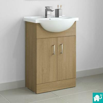 Oak Bathroom Vanity Unit Sink Basin Furniture Storage Cabinet Oak55