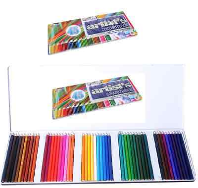 Tin Set Of 45 Colouring Pencils Artist Colour Shades For Drawing Sketching Gift
