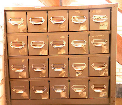 20 DRAWER ON TREND INDUSTRIAL METAL FILING CABINET For HOME RETAIL OR OFFICE Use