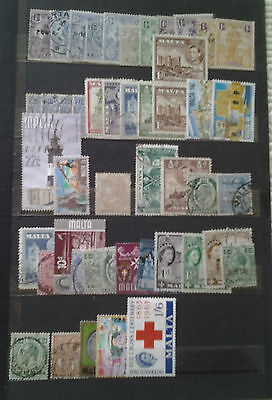 Lot 47 Timbres  Malte   Europe