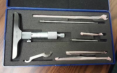 "0 - 6"" Depth Micrometer 0.001"" graduation w. 4"" base #424-004--NEW"
