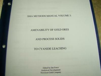 """SMA Methods #3 """"Amenability of Gold Ores and Process Solids to Cyanide Leaching"""""""