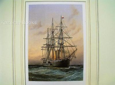 Antique Colour Lithographic Print HMS Alexandra Victorian Ships Of Royal Navy