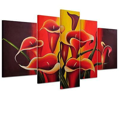 NEW Large Trumpet Flower Unframed HD Canvas Print Wall Art Picture Split Poster