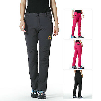 Women's Warm Quick Dry Wicking Outdoor Windproof Ski Hiking Camping Sports Pants