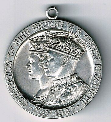 1937 Long May They Reign Coronation King George Vi Qn Elizabeth Aluminum Medal