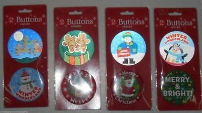 36 packs of 2 christmas badges large 7.5cm that's 72 assorted bulk wholesale lot