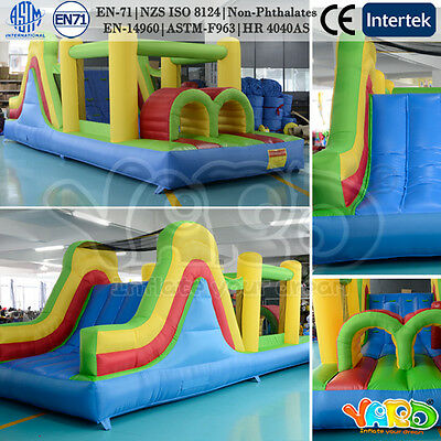 Bounce house inflatable obstacle course jumper moonwalk trampoline