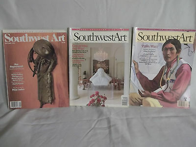 Southwest Art Magazine - Three Vintage Issues - October 1992 & 1995 & March 1996