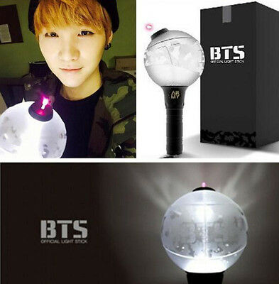 New Official BTS Light Stick Bangtan Boys Lightstick Glow Lamp 1:1