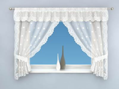 Honey Lace Complete Window Set Kitchen Curtain Pair Window Drapes Dining Room