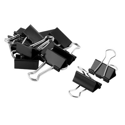 School Office Metal Ticket File Paper Organized Binder Clips Clamps 12 Pcs