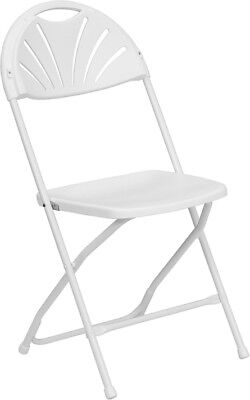 Lot of 30 White Steel Frame Folding Chairs
