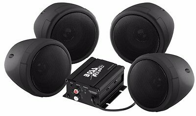 Boss Audio 1000W 4-Speaker Bluetooth Sound System Black Polaris Ranger Rzr Utv