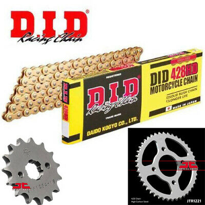 Honda CB125 F (GLR125) 2015-2017 DID Gold Heavy Duty Chain and Sprocket Kit Set