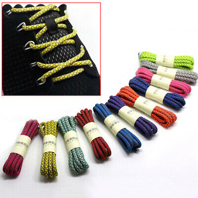 Round Shoe Laces Athletic Shoelaces Sneakers Strings Unisex Reflective Bootlace
