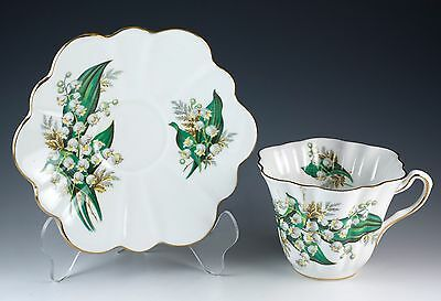 Vintage Bone China Lily of the Valley Floral Tea Cup & Saucer Made In England