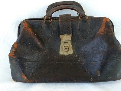 "ANTIQUE LEATHER DOCTORS BAG ""Belonged to Dr Who Attended President McKinley"""