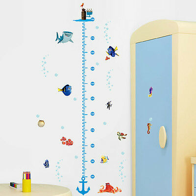 Finding Nemo Height Chart Measure Wall Sticker Decal for Kids Baby Nursery Room