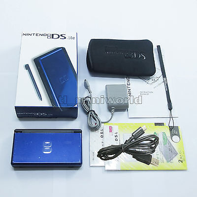 Brand New Blue & Black Nintendo DS Lite HandHeld Console System + gifts