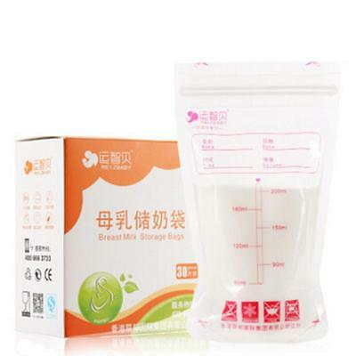 30Pcs Pre-sterilised Baby Breast Milk Storage Bags freezer Bag Pouches 200ml LG