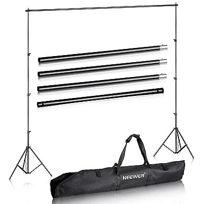 Neewer 2.6M x 3M Photography Studio Background Backdrop Support System Stand