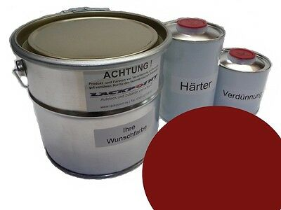1 L Set 2K Car paint GDR Indian Red Trabant Trabi red Sachsenring IFA Lackpoint