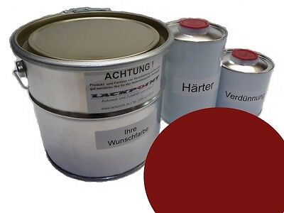 5 L Set 2K Car paint GDR Indian Red Trabant Trabi red Sachsenring IFA Lackpoint