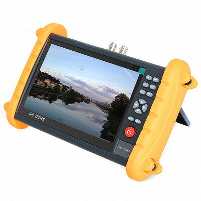 """IPC9600S 7"""" Touch Screen CCTV Analogy Video ONVIF IP Camera Tester POE 12V Out"""