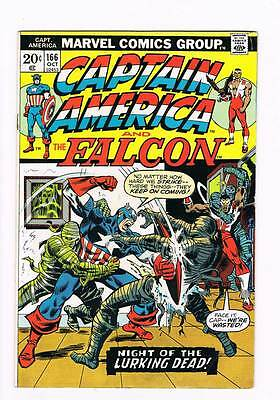 Captain America # 166  The Lurking Dead grade 5.0 scarce hot book !!