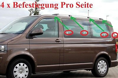 VW T5/ T6  - DACHRELING + DACHTRÄGER in Chrom Ab Bj 2003-2016
