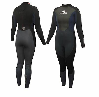 SOLA ECLIPSE GBS 5/4/3mm Neoprene Ladies Winter Wetsuit surfing sailing Diving