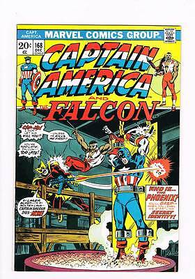 Captain America # 168 ...And a Phoenix Shall Arise ! grade 8.5 scarce hot book !