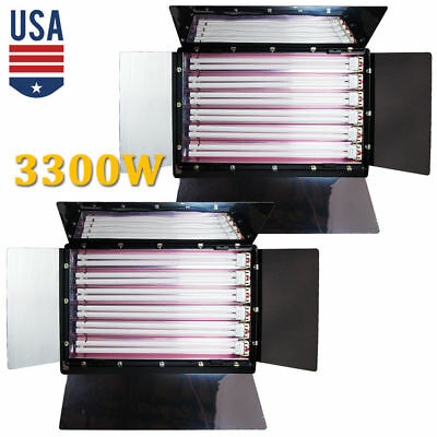 3300W Photo 6 Bank Light Studio Digital Video Lighting Fluorescent Lightbank New