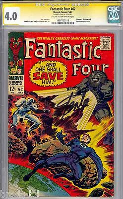 Fantastic Four #62 Cgc 4.0 Ss Stan Lee Signed & Stan Lee Story Cgc #1197727015
