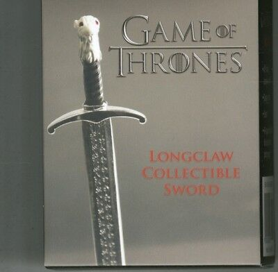 Game Of Thrones: Longclaw Collectible Sword  9780762458219
