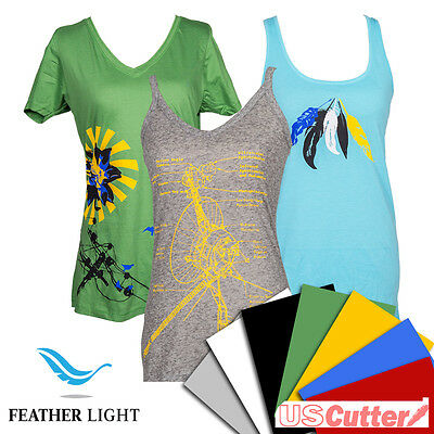 "Feather Light Heat Transfer Vinyl, Thin Iron-On HTV by SISER, 15"" x 12"",5yd,10yd"